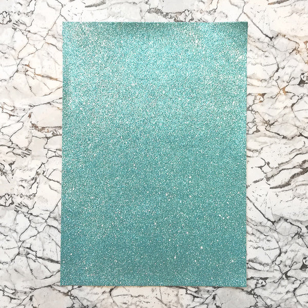 FINE Glitter Fabric A4 Sheet; Metallic Light Blue