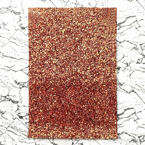 CHUNKY Glitter Fabric A4 Sheet; Metallic Bronze