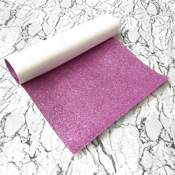 FINE Glitter Fabric A4 Sheet; Metallic Lilac Pink