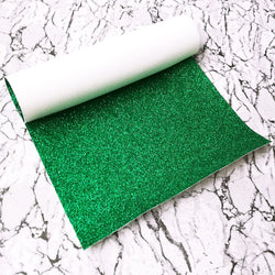 FINE Glitter Fabric A4 Sheet; Metallic Emerald Green