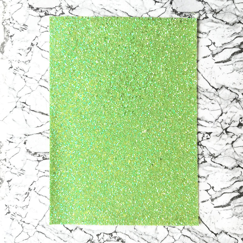 CHUNKY Glitter Fabric A4 Sheet; Pastel Green AB