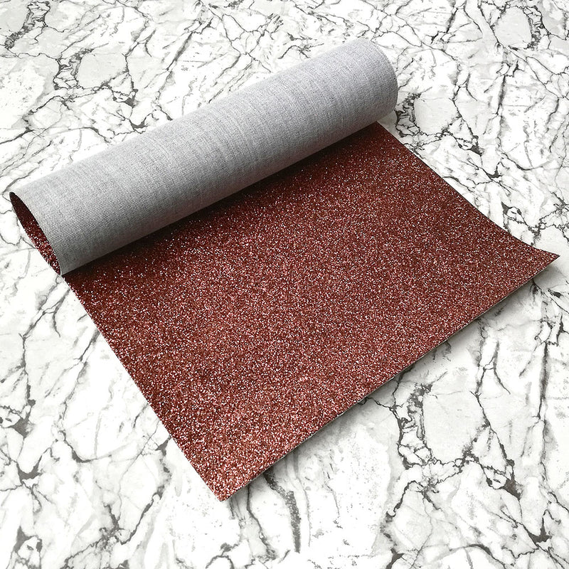 FINE Glitter Fabric A4 Sheet; Metallic Brown
