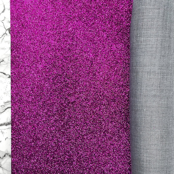 FINE Glitter Fabric Metre Rolls; Metallic Purple