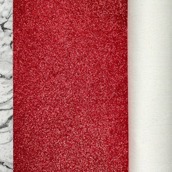 FINE Glitter Fabric Metre Rolls; Metallic Red