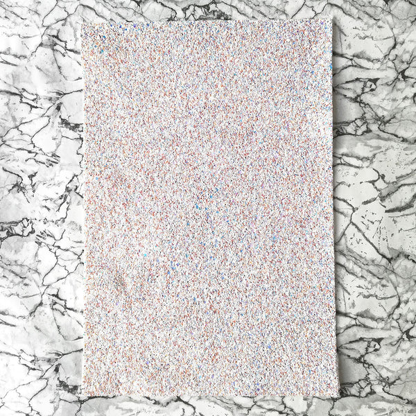 CHUNKY Glitter Fabric A4 Sheet; White Sand Mix