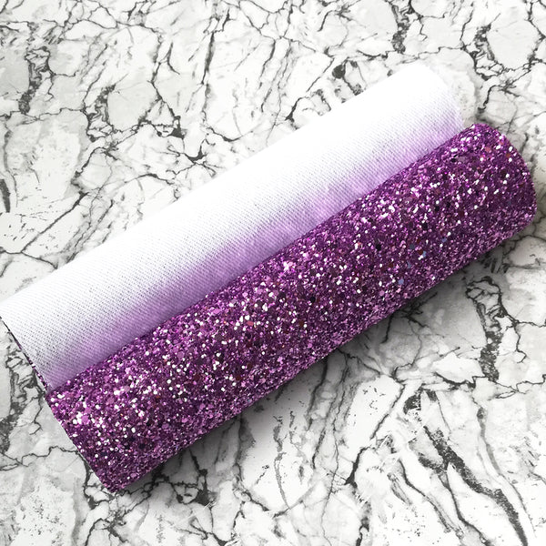 CHUNKY Glitter Fabric A4 Sheet; Metallic Lilac