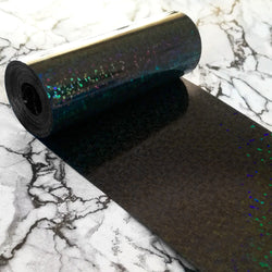 PVC Sequin Film; Metallic Hologram Black