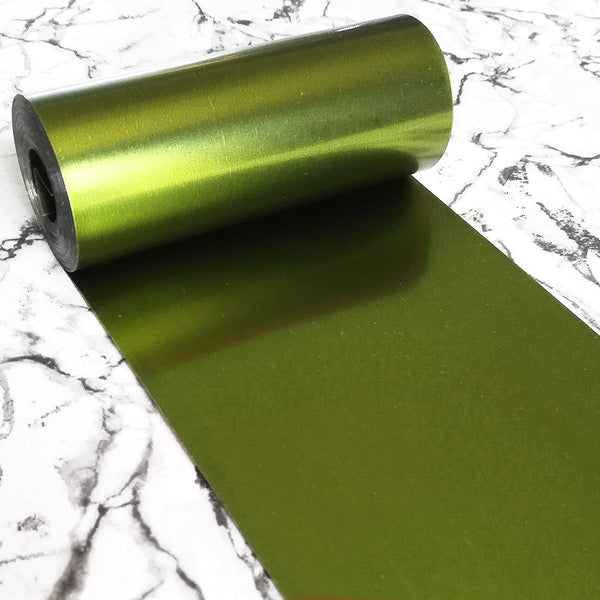 PVC Sequin Film; Matte Golden Green