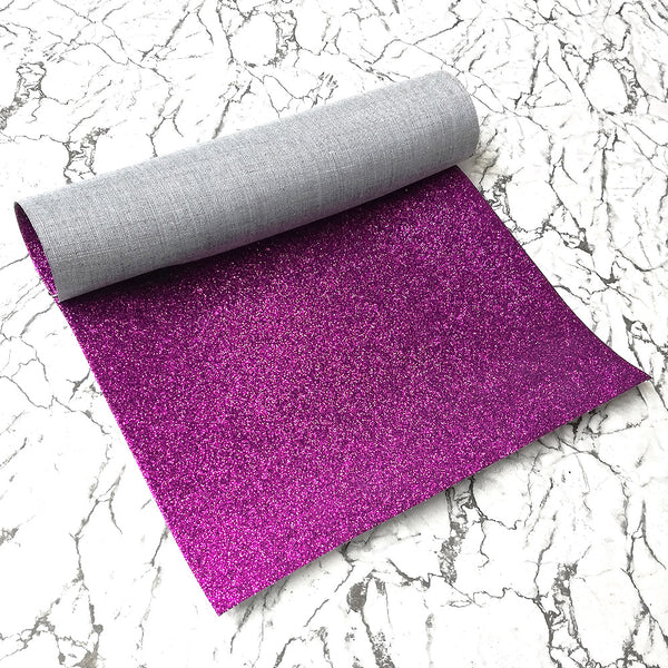 FINE Glitter Fabric A4 Sheet; Metallic Purple