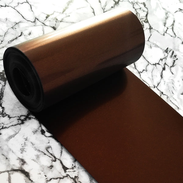 PET Sequin Film; Matte Bronze Brown