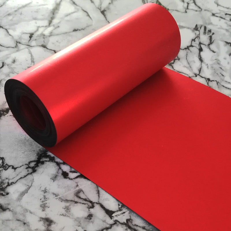 PET Sequin Film; Matte Red