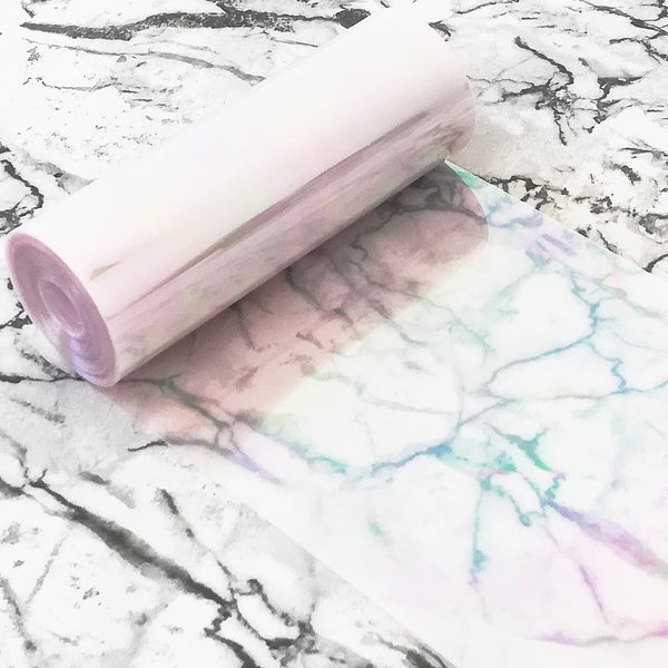 PVC Sequin Film; Clear Rainbow Lilac