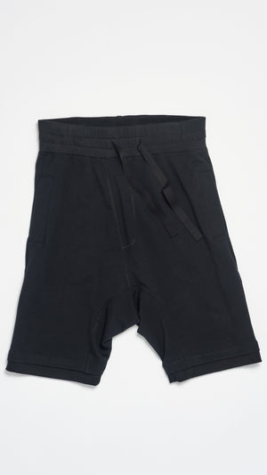 BLACK DROP CROTCH SHORT