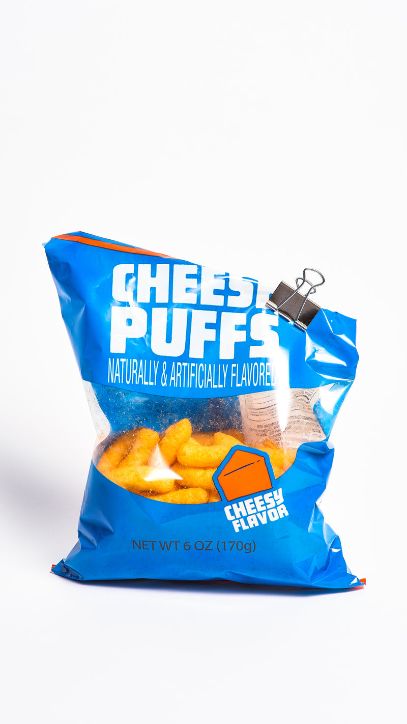 SLIGHTLY USED CHEESE PUFFS