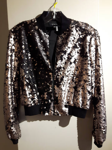 Sequined Bomber Jacket by 1 State - Like New Condition