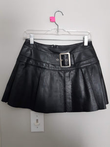 North Bound Leather Pleated Mini Skirt - Excellent Used Condition