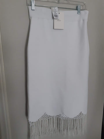 "A.L.C.. ""Rose"" Fringed Knit Skirt - BNWT"