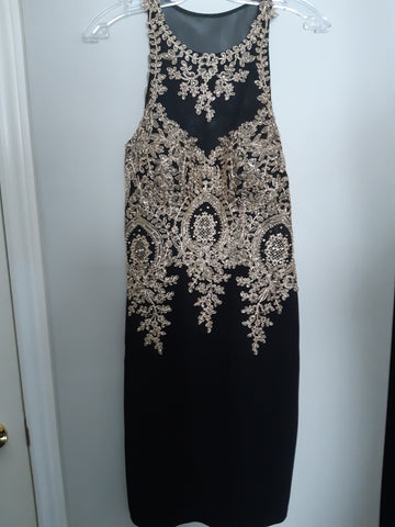 Beaded, Sleeveless Cocktail Dress - Like New Condition