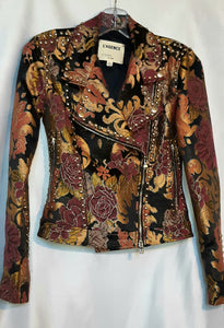 Brocade Moto Jacket by L'agence - Like-new Condition