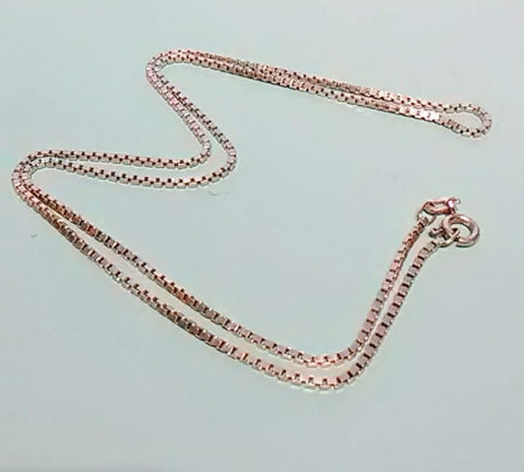 "Vintage 18"", Sterling Silver Box Chain, Made in Europe"