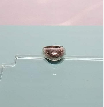 Vintage Sterling Silver Dome Ring - Size 8