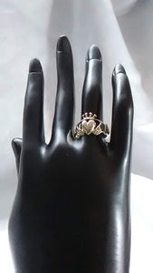 Vintage Sterling Silver Claddagh Ring - Size8