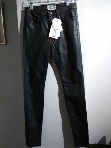 Current Elliott Coated Black Denim Skinny Jean - BNWT*