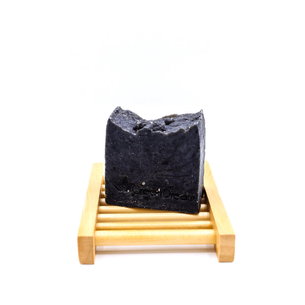 Activated Charcoal & Tea Tree Soap Bar. An essential for reducing waste in the bathroom. Made with 100% natural ingredients in Hawaii. Vegan, Biodegradable, Sustainable, Zero Waste. Shop now at rplanetshop.com