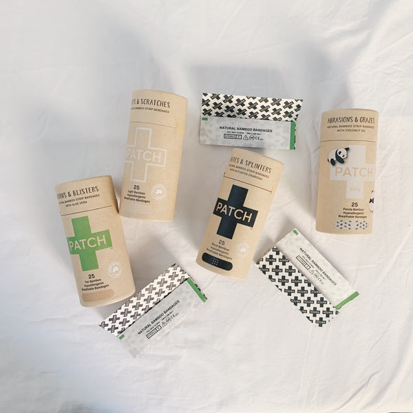 Cuts and scrapes are natural, and your bandages can be too! Patch up your wounds with our compostable bandage, no harm done to the environment. Contains 25 pack of strips. 100% compostable and biodegradable. Shipped with plastic free shipping materials. Shop now at rplanetshop.com.