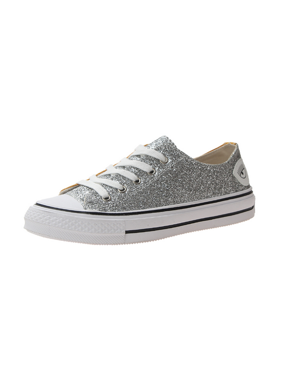 Modakawa 35 / High Top 1 Sequin Color Block  Low/ High Top Canvas Shoes