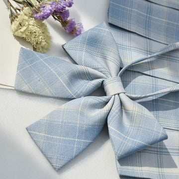 Modakawa ACC. Bowknot B / One Size Sweet School Plaid Bowknot Tie Shirt Accessories