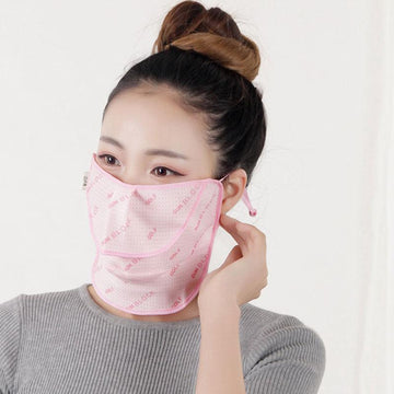 Modakawa ACC. Pink / One Size SUN BLOCK Washable Face Mask