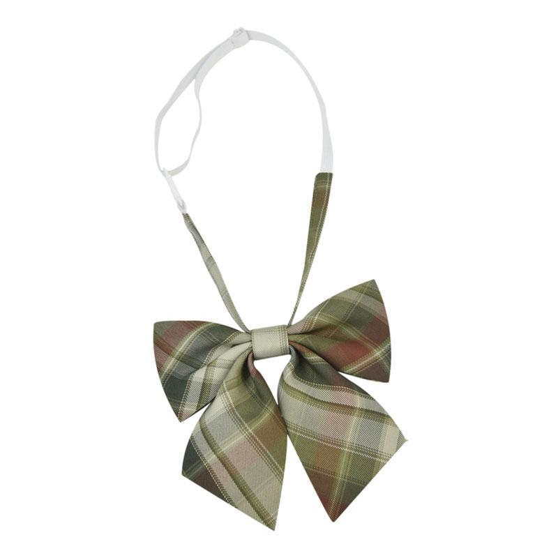 Modakawa Accessories Bow B / One Size Print Tie Plaid Bow Accessories