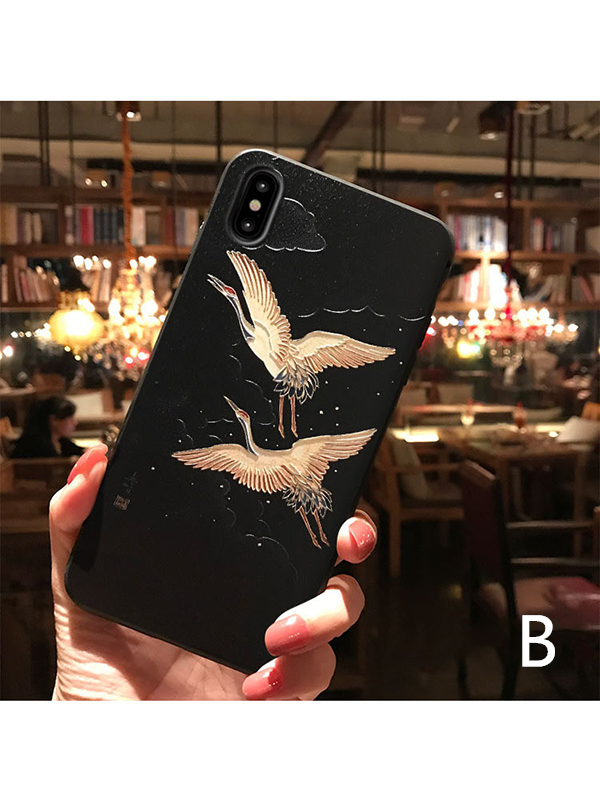 Modakawa Accessories iPhone6/6s / B Japanese Crane Phone Case