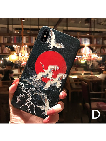 Modakawa Accessories iPhone6/6s / D Japanese Crane Phone Case