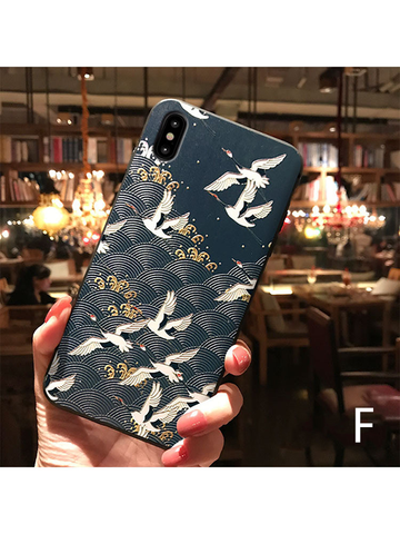 Modakawa Accessories iPhone6/6s / F Japanese Crane Phone Case