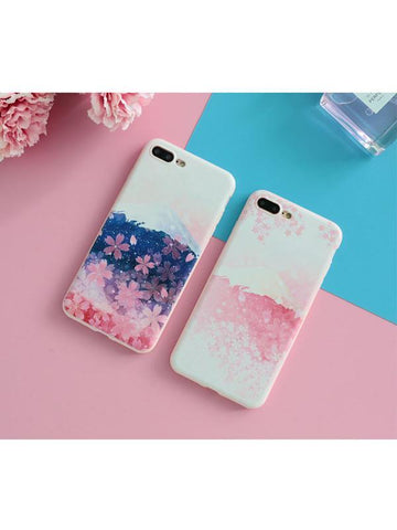 Modakawa Accessories iPhone6/6s / Pink Sakura Snow Mountain Phone Case