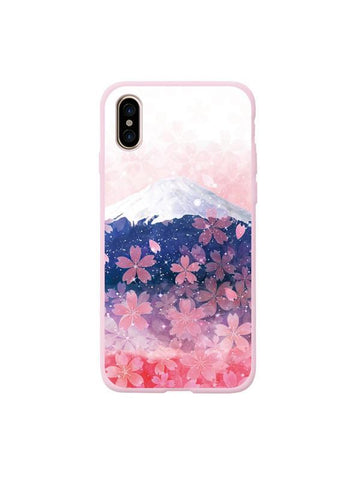 Modakawa Accessories iPhone6/6s / Purple Sakura Snow Mountain Phone Case