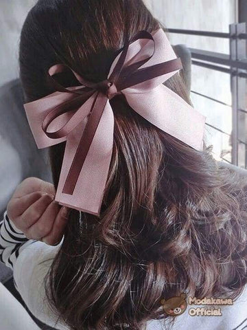 Modakawa Accessories Pink Large Double Color Hair Bow Clip