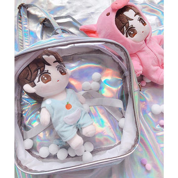 Modakawa Backpack As Shown / One Size Itabag Rainbow Reflective Clear PU Dolls Backpack
