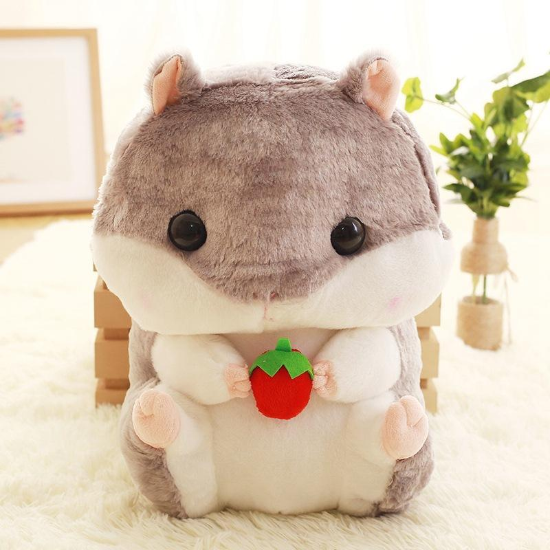 Modakawa Backpack Gray Cartoon Capacity Stuffed Hamsters Fuzzy Doll Backpack