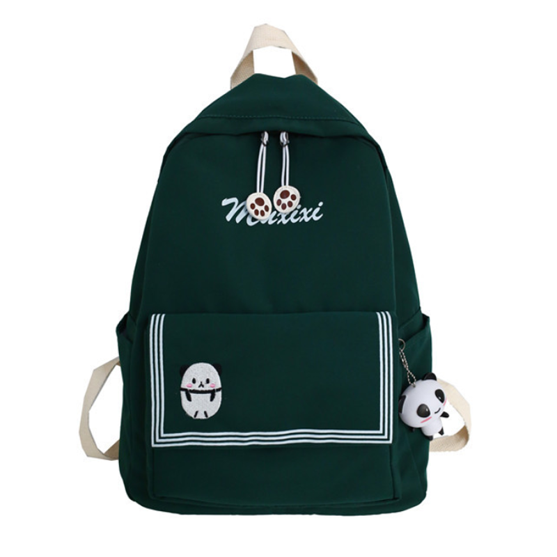 Modakawa Backpack Green A / One Size Candy Color Animal Travel Student Backpack