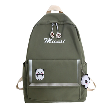 Modakawa Backpack Green B / One Size Candy Color Animal Travel Student Backpack
