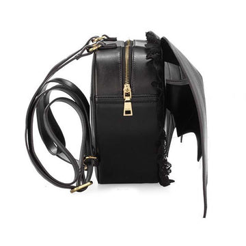 Modakawa Backpack Love Heart Black Angel Devil Bat Wings Lace Backpack