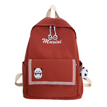 Modakawa Backpack Orange / One Size Candy Color Animal Travel Student Backpack