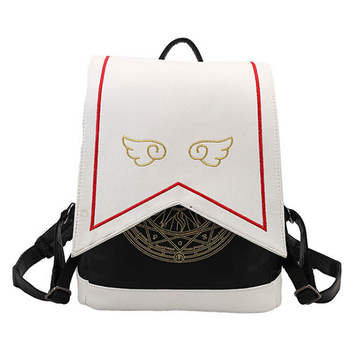 Modakawa Backpack Wing Embroidery School Bags Cartoon