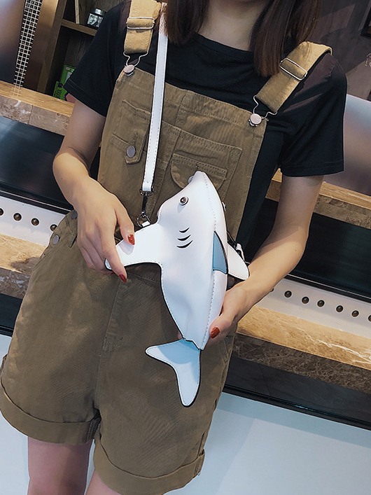 Modakawa Bag Baby Shark Shaped Crossbody Bag