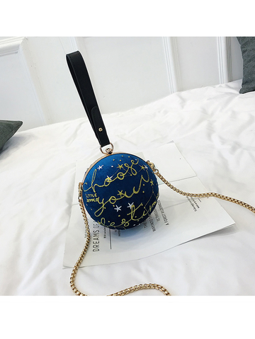Modakawa Bag Blue Mini Chain Sphere Crossbody Bag