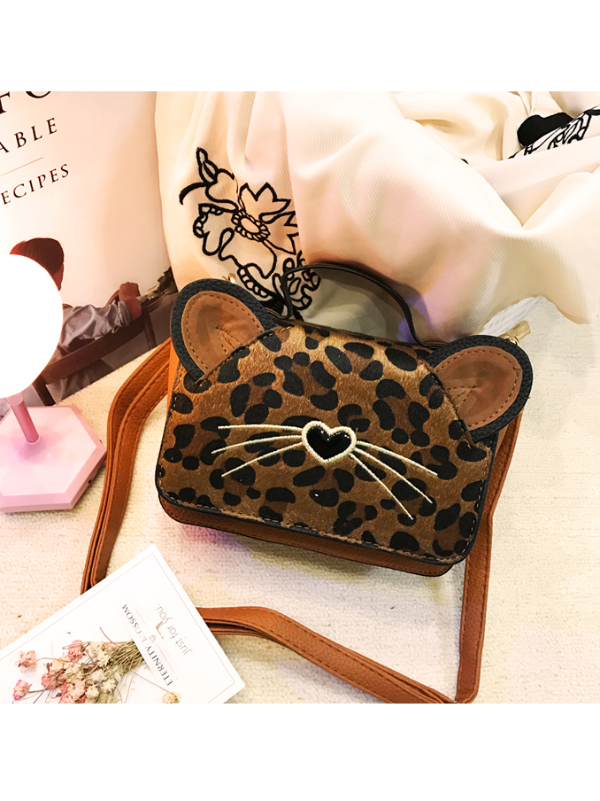 Modakawa Bag Brown Leopard Print Crossbody Bag