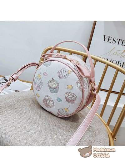 Modakawa Bag Ice Cream Swan Round Crossbody Bag